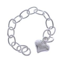 Sterling Silver Heart Extension Chain 2-in length