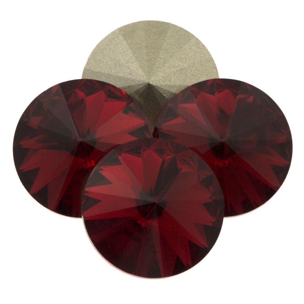 Two Swarovski Crystal 18mm 1122 Rivoli Scarlet (276)