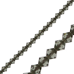 144 Swarovski 5328 Xilion Crystal 3mm Bicone Bead Black Diamond (215)