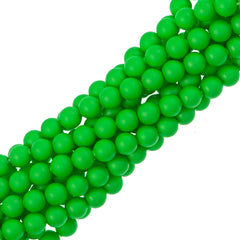 100 Swarovski 5810 4mm Round Neon Green Pearl Beads