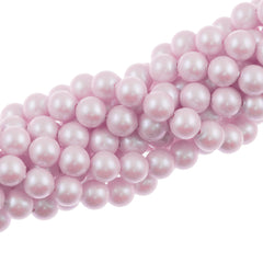 100 Swarovski 5810 6mm Round Iridescent Dreamy Rose Pearl Beads
