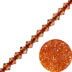 144 Swarovski 5328 Xilion 4mm Bicone Bead Crystal Chili Pepper (001 PEP)