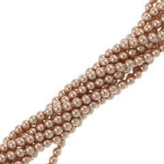 200 Swarovski 5810 2mm Round Rose Gold Pearl Beads
