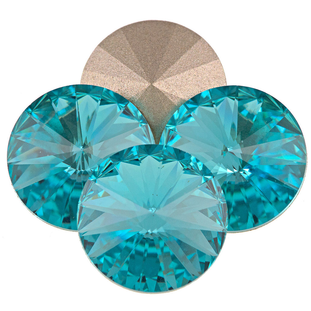 Four Swarovski Crystal 14mm 1122 Rivoli Light Turquoise (263)