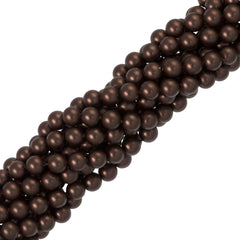 100 Swarovski 5810 6mm Round Velvet Brown Pearl Beads