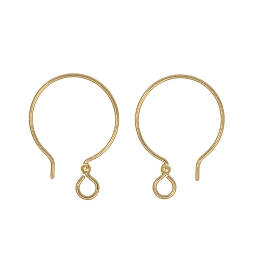 TierraCast French Hoop Ear Wire Gold Filled with 2mm Bead