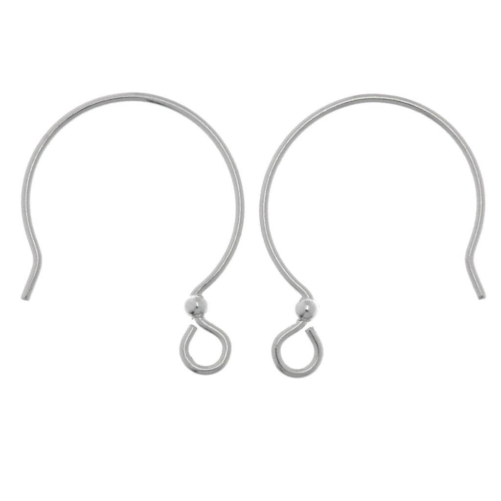 TierraCast French Hoop Ear Wire Sterling Silver with 2mm Bead