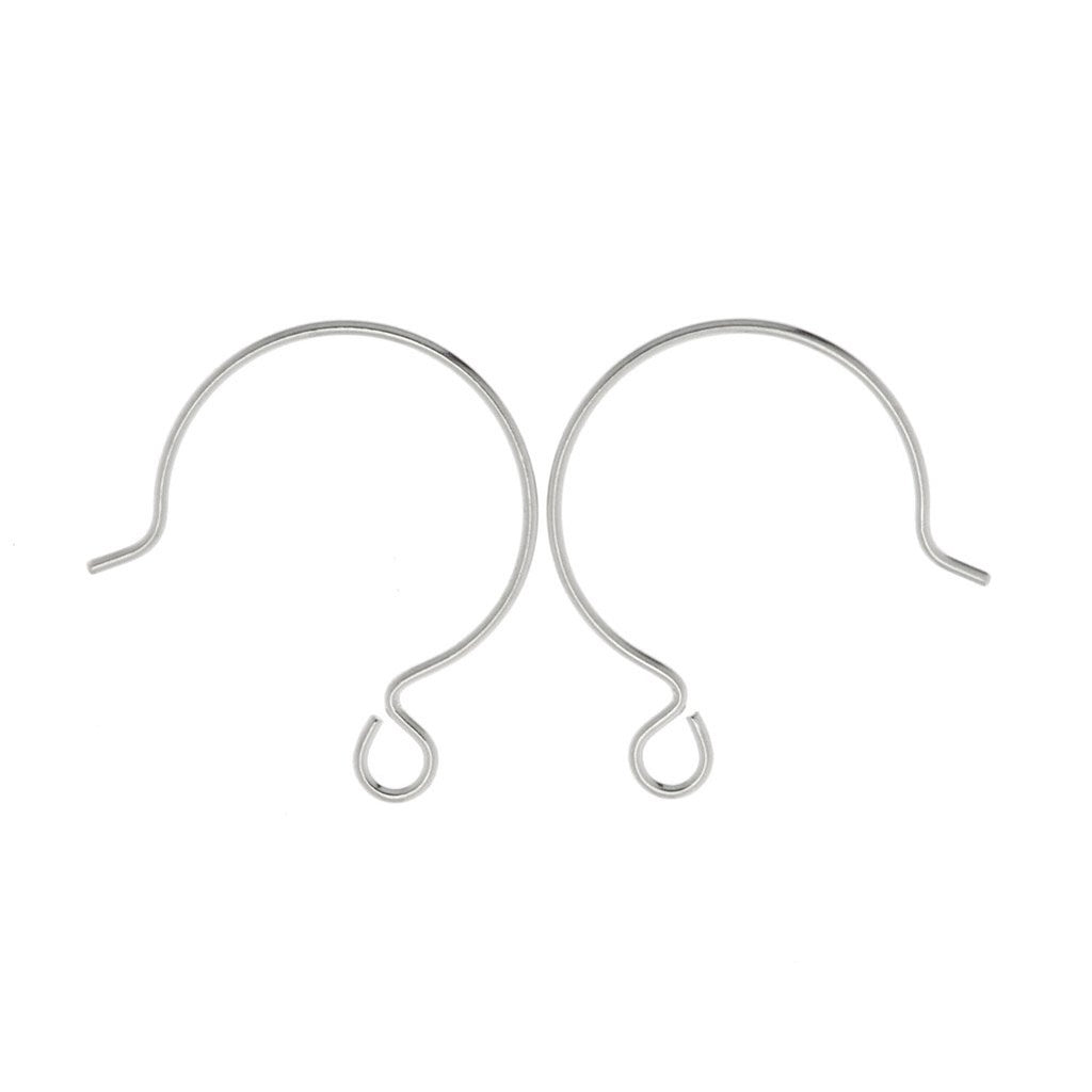 TierraCast French Hoop Ear Wire Sterling Silver with 2mm loop