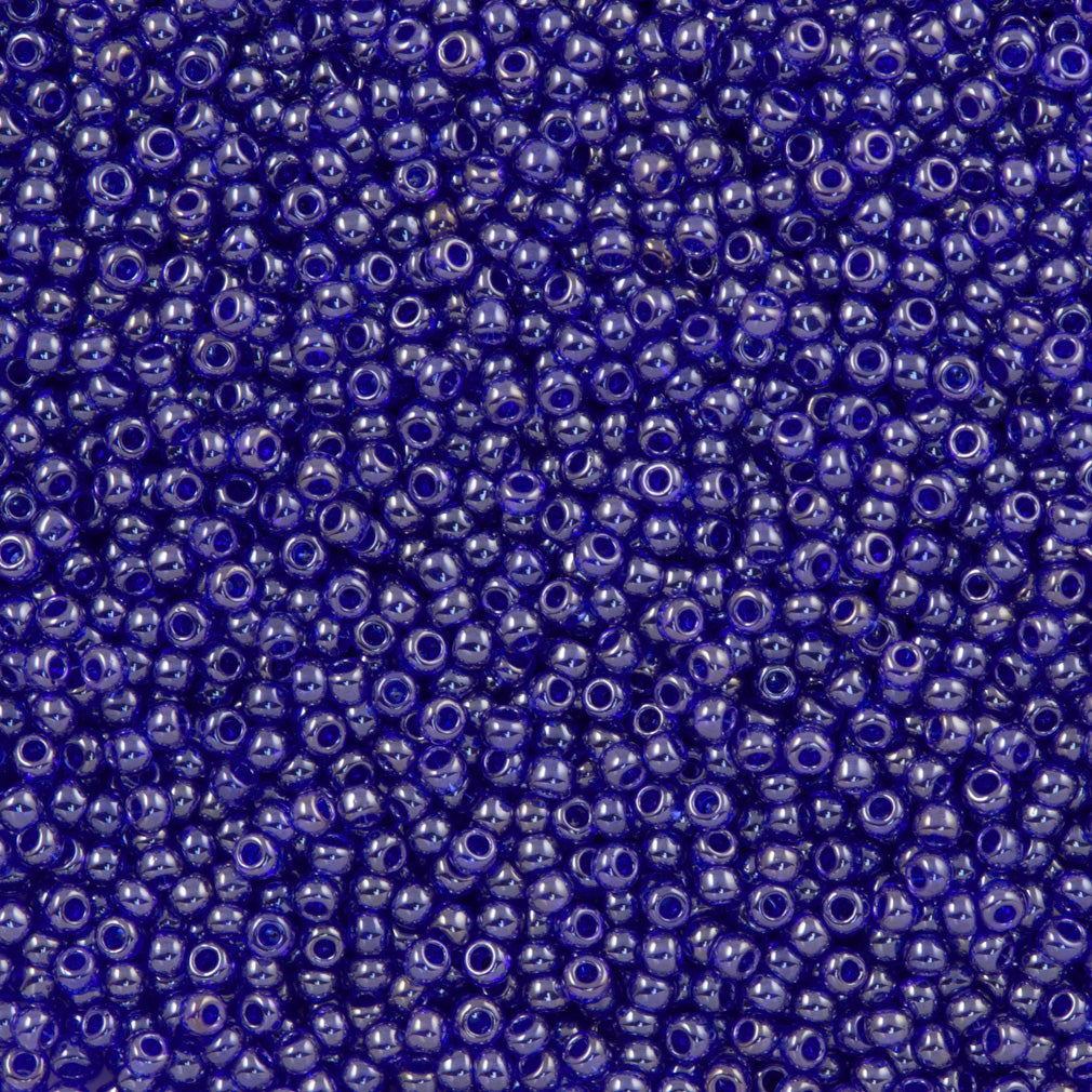 Toho Round Seed Bead 11/0 Transparent Luster Cobalt (116)