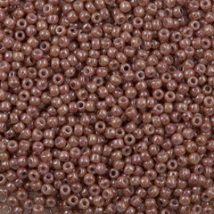 Toho Round Seed Bead 11/0 Opaque Beige Pink Marbled (1201)