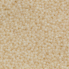 Toho Round Seed Bead 11/0 Transparent Ceylon Cream 19g Tube (147)