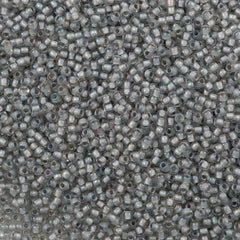 Toho Round Seed Bead 11/0 Inside Color Lined Gray 19g Tube (261)