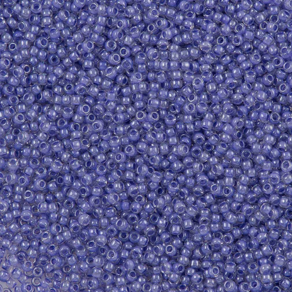Toho Round Seed Bead 11/0 Inside Color Lined Lupine (988)