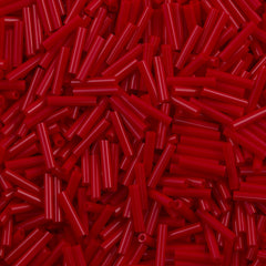 Toho 9mm Bugle Bead Opaque Pepper Red (45)