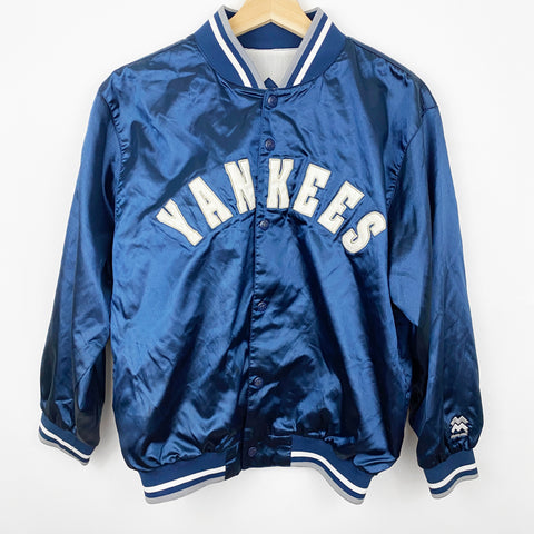 Vintage Youth 90s New York Yankees Stitched Spell Out Satin Jacket
