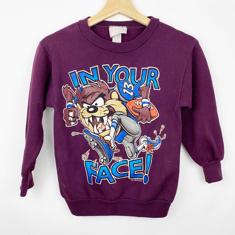 Vintage Youth 90s 1994 'In Your Face' Looney Tunes Taz Football Graphic Sweatshirt