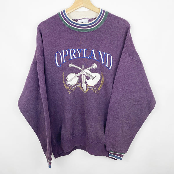 Vintage 90s Opryland Country Music Venue Nashville Tennessee Graphic Sweatshirt