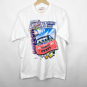 Vintage 90s 1997 Jeff Gordon Team Dupont Neon Nascar Racing Graphic Shirt