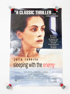 Vintage 1991 Original Print Julia Roberts in 'Sleeping With the Enemy' Movie Theatre Poster