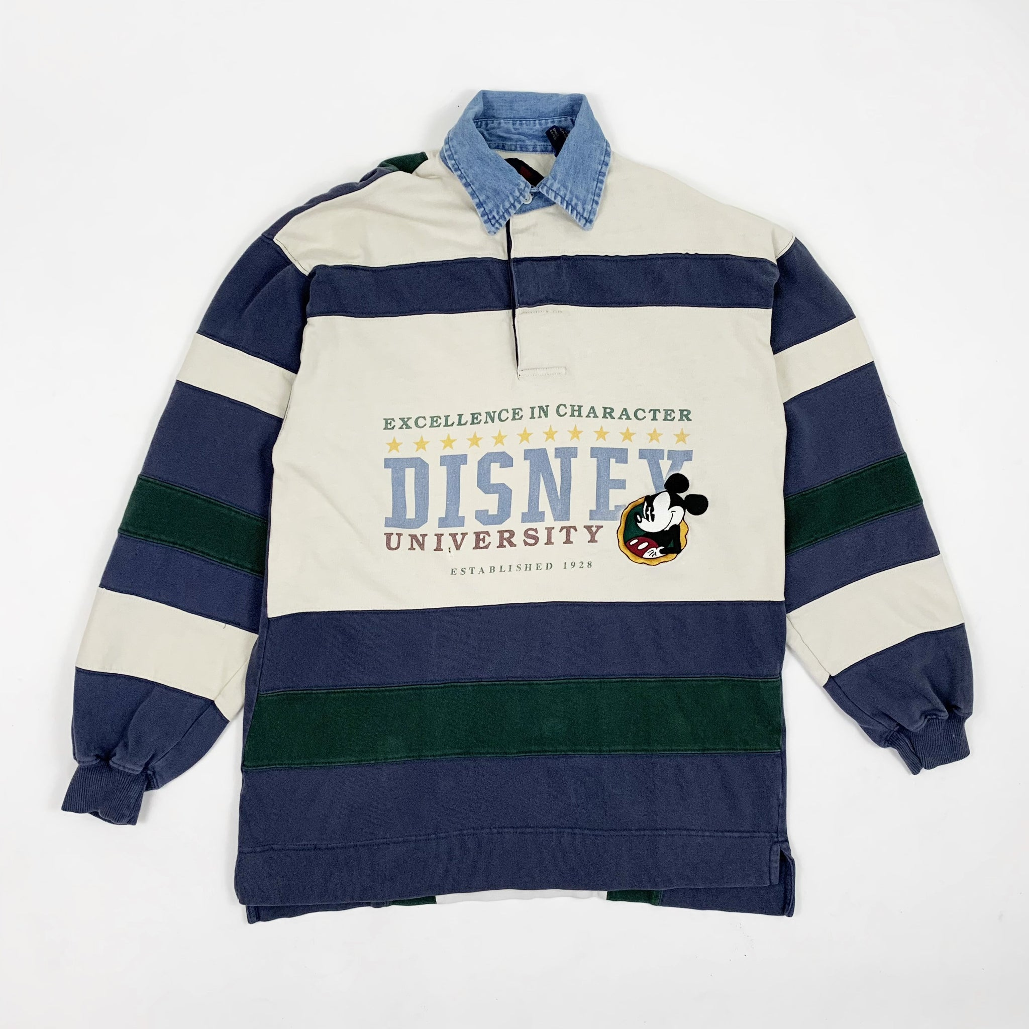 Vintage Disney Mickey Mouse University Rugby Style Shirt - Public Interest CLT
