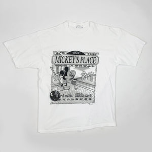 Vintage Disney Mickey Mouse 'Trick Shot' Pool Graphic Shirt - Public Interest CLT