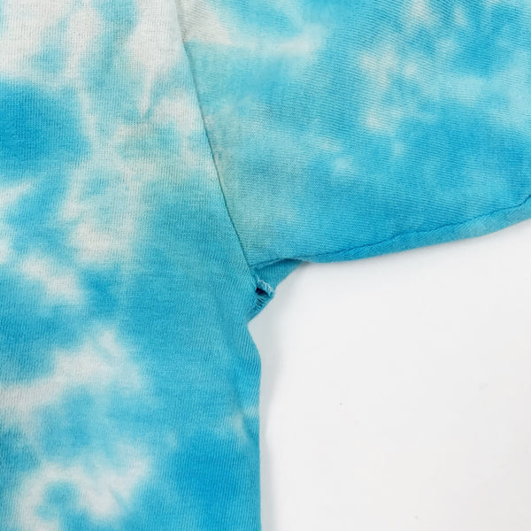 Vintage 1990s Planet Hollywood Custom Blue Tie Dye Shirt - Public Interest CLT
