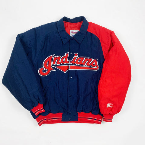 Vintage 1990s Cleveland Indians Diamond Collections Starter Jacket