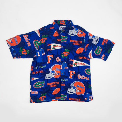 Vintage 90s All over print Florida Gators Button Down Shirt