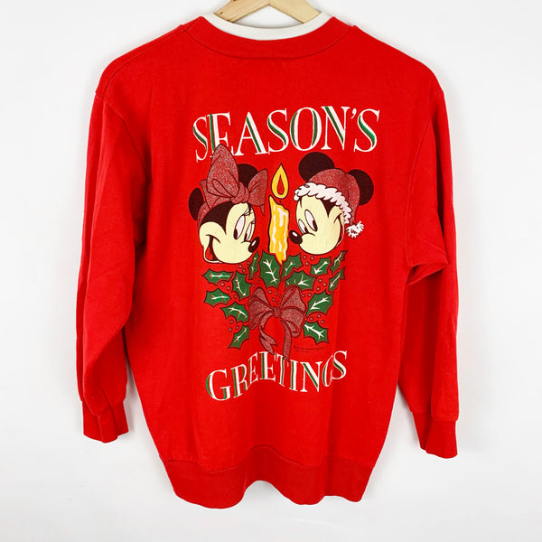 Vintage Disney's 'Merry Christmas Mickey' Minnie Mouse Sweatshirt