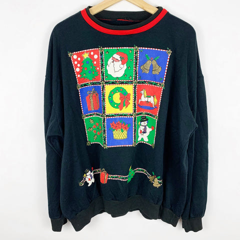 Vintage Color Pop Blocks 'Themes of Christmas' Sweatshirt