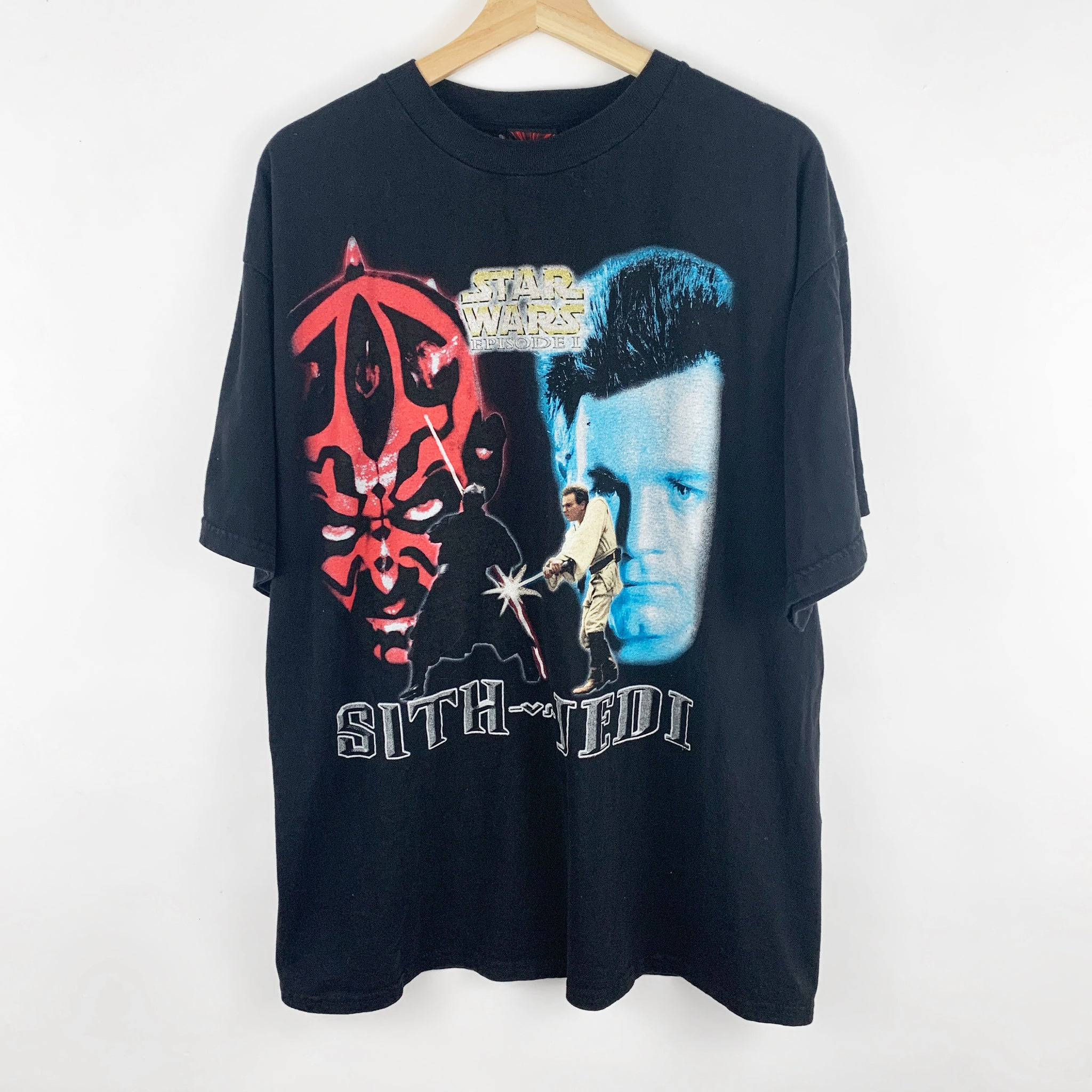 Vintage 1999 Stars Episode I: Jedi vs. Sith Graphic Movie Shirt