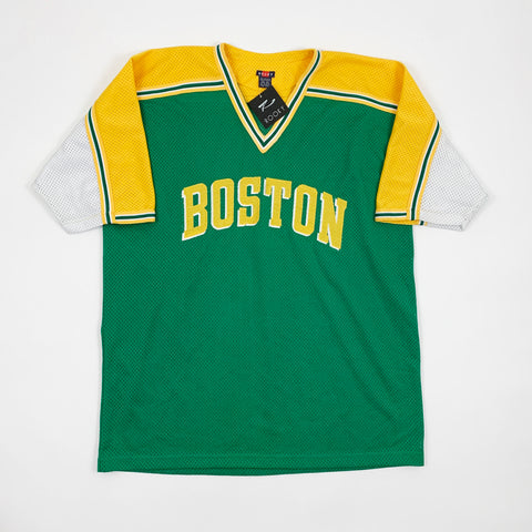Vintage 90s Deadstock Boston Celtics Embroidered Mesh Jersey