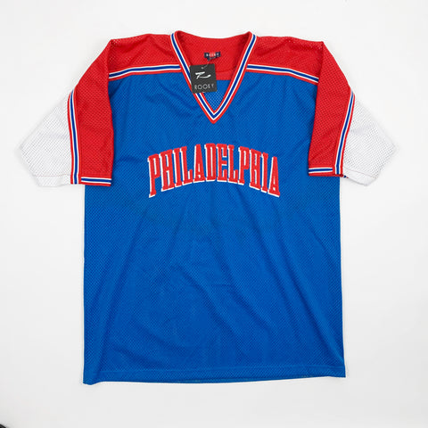 Vintage 90s Deadstock Philadelphia Sixers Embroidered Mesh Jersey