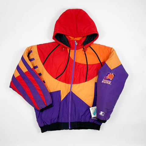Vintage 90s RARE Deadstock Phoenix Suns All Over Design Starter Jacket