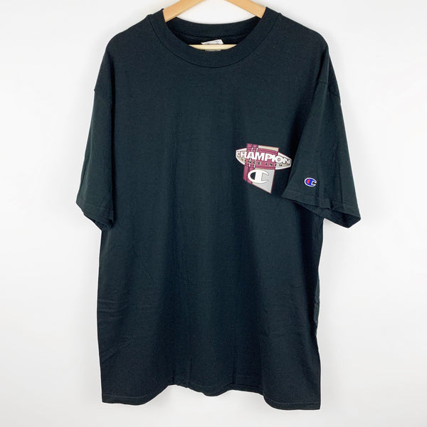 Vintage 90s Deadstock Champion Gray & Maroon Graphic Shirt