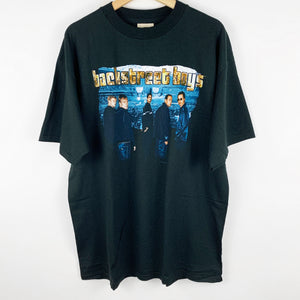 Vintage 1999 Deadstock Backstreet Boys Concert Background Gold Spell Out Graphic Shirt