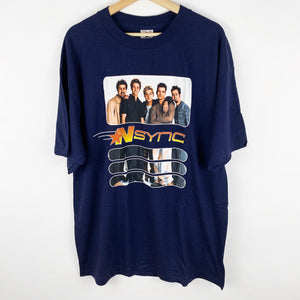 Vintage 90s NSYNC Group Photo Graphic Shirt