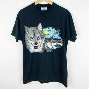 Vintage Native Land Gray Wolf 'Howl at the Moon' Graphic Shirt