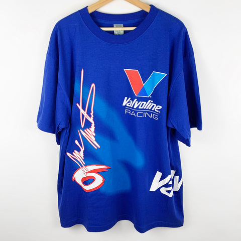 Vintage Mark Martin 'Valvoline Racing' All Over Print Graphic Shirt