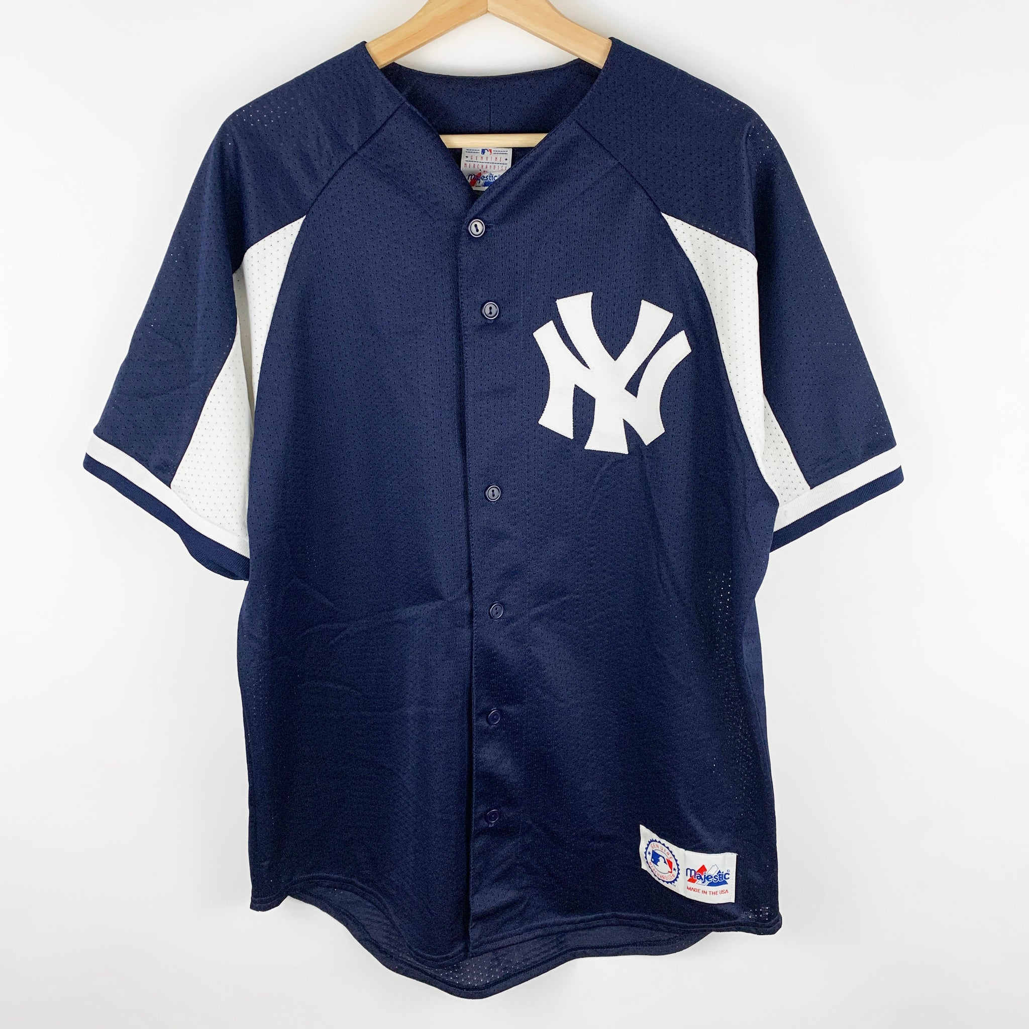 Vintage New York Yankees Kenny Rogers Majestic 'Made in USA' Button Down Jersey