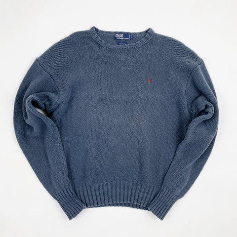 Vintage Ralph Lauren Polo Blue Knitted Sweater