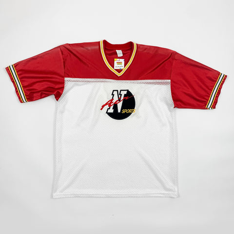 Vintage Nike Air Sports Red & White Mesh Jersey