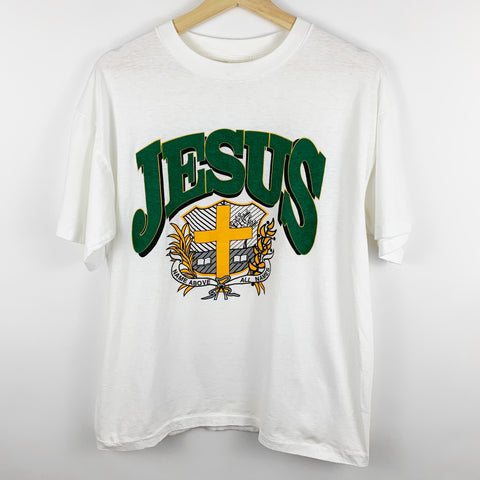 Vintage 90s Jesus 'Name Above All Names' Religious Graphic Shirt