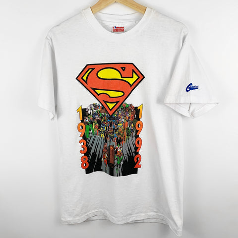 Vintage 90s 1993 Death of Superman 'Where Were You?' Superhero Graphic Shirt