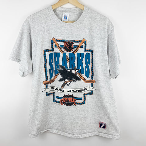 Vintage 90s 1991 San Jose Sharks NHL Hockey Graphic Shirt
