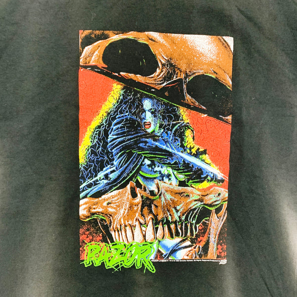 Vintage 90s 1996 Comic Images Razor Graphic Comic Shirt