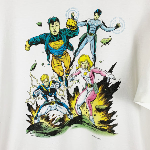 Vintage 1995 Graphitti Brand DC Comics Legion of Super-Heroes Graphic Shirt