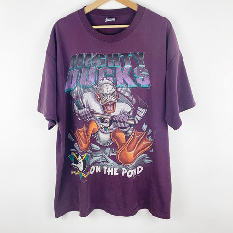 Vintage 90s Salem Sportswear Mighty Ducks NHL Graphic Shirt