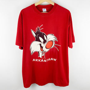 "Vintage 90s Looney Tunes Sylvester the Cat ""Arkanthaw"" Graphic Shirt"