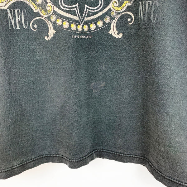 Vintage 90s 1994 New Orleans Saints NFL Football Graphic Shirt